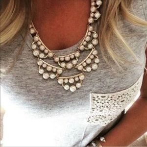 New* Stella & Dot Frances Pearl necklace